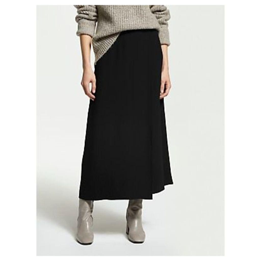 Finery Rose Satin Wrap Skirt, Black