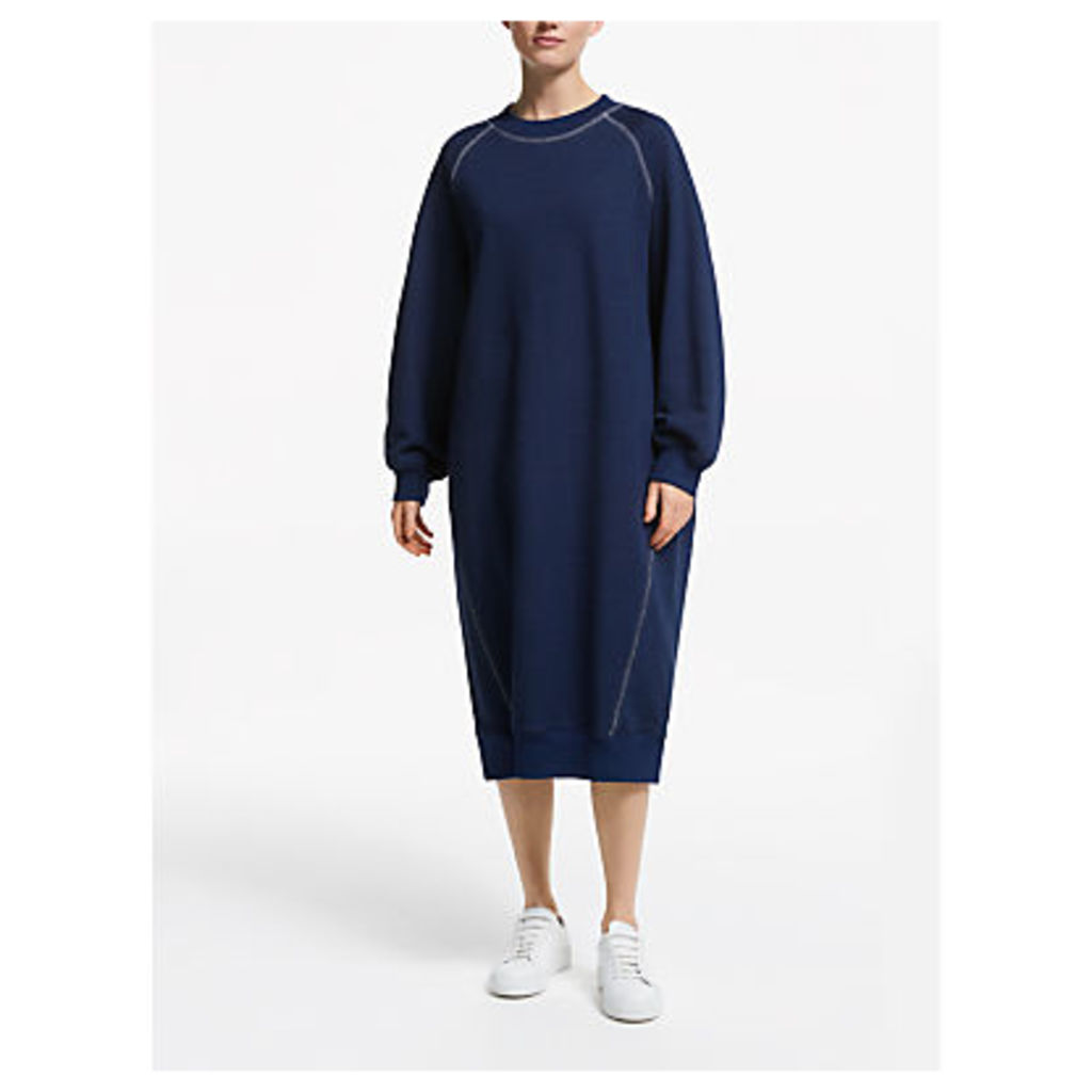 Kin Topstitch Sweat Dress, Indigo
