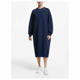 Kin Topstitch Sweat Dress, Indigo