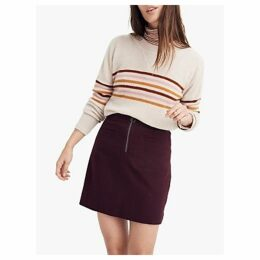 Madewell Wool Blend Novelty Skirt, Rich Plum