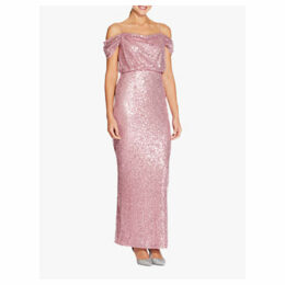 Adrianna Papell Sequin Long Dress, Rose