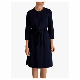 Fenn Wright Manson Bluey Tie Waist Dress, Navy