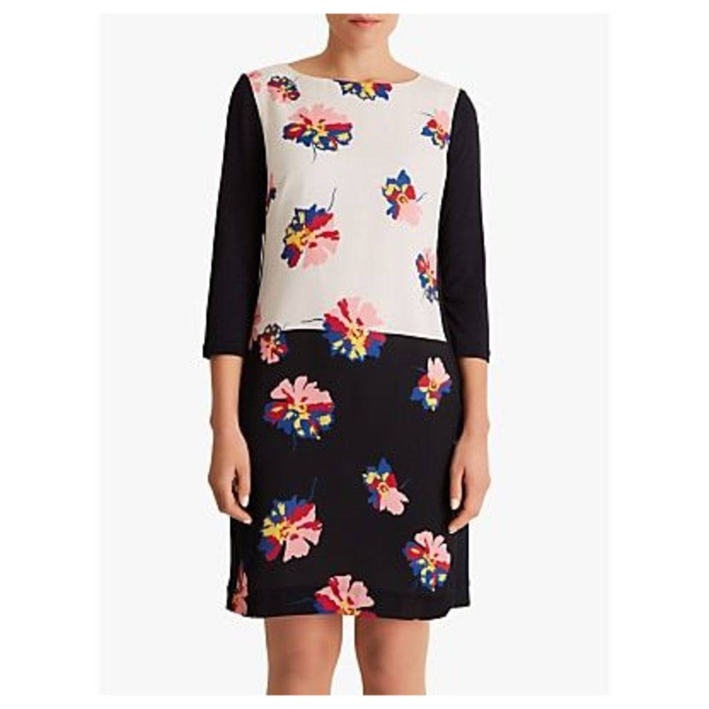 Fenn Wright Manson Petite Caprice Dress, Navy/White Print