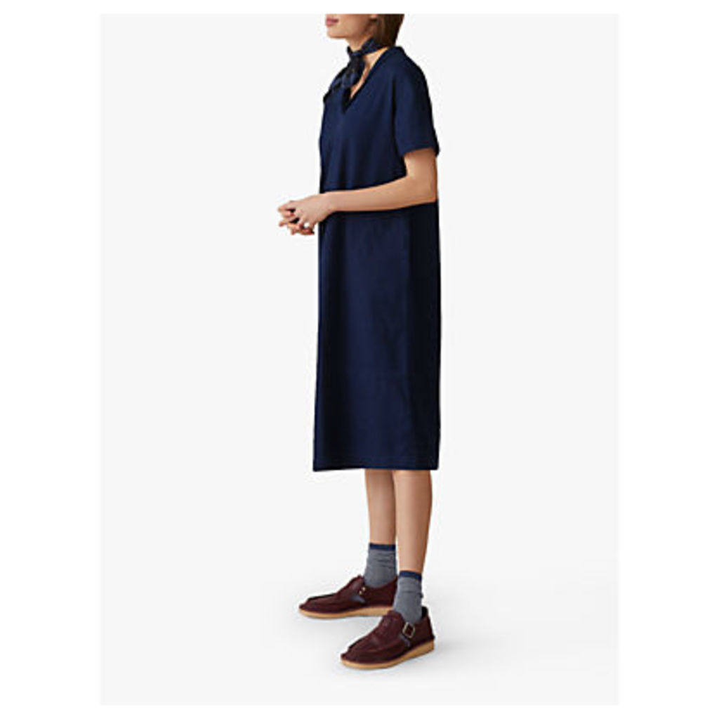 Toast Square Denim Dress, Indigo
