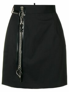 Dsquared2 zip detail short skirt - Black