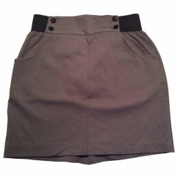Brown Cotton Skirt