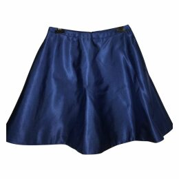 Blue Synthetic Skirt