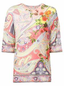 Etro paisley & flower print blouse - Pink
