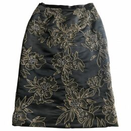 Silk mid-length skirt