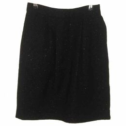 Wool mid-length skirt