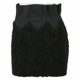 Shearling mid-length skirt