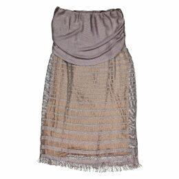 Gold Viscose Skirt