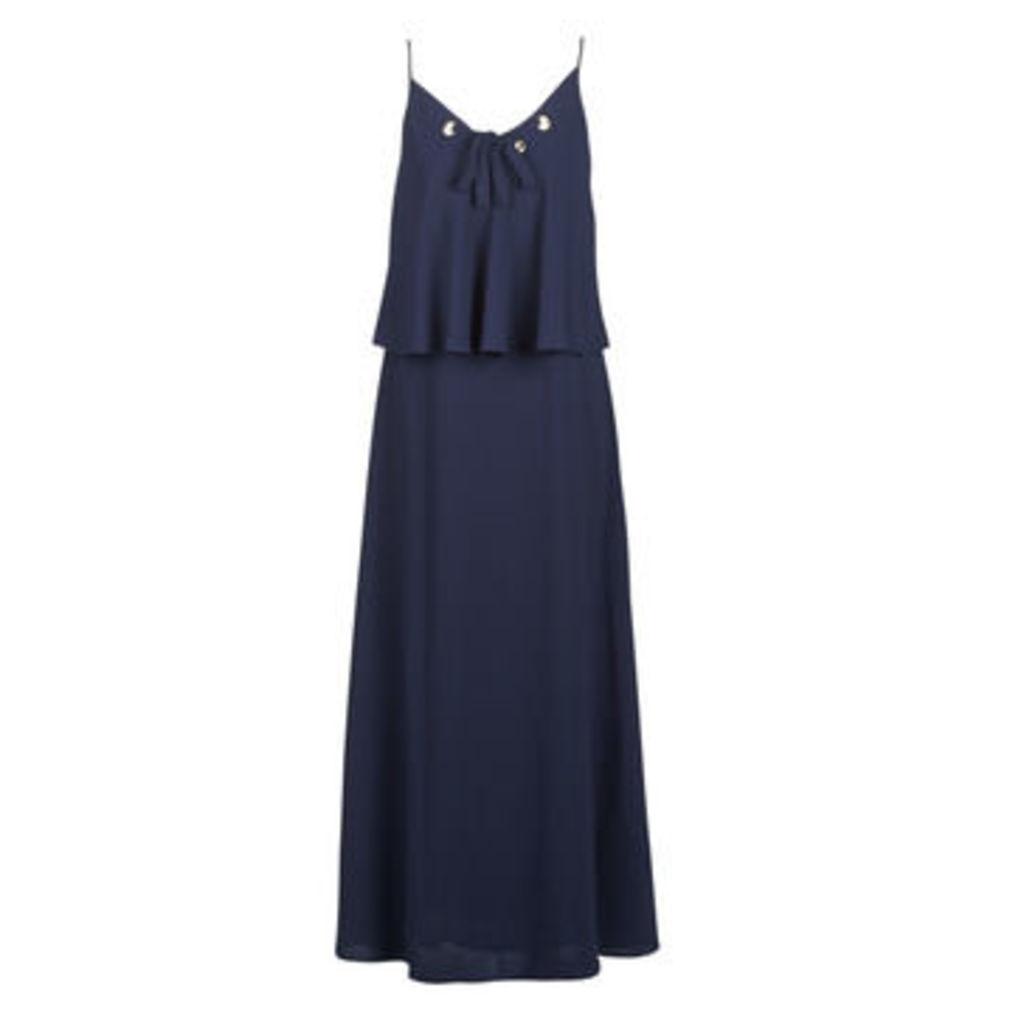 Morgan  RLUCY  women's Long Dress in Blue
