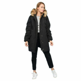 Rodier  Faux fur hooded parka  women's Parka in Black
