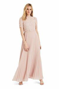 Womens Phase Eight Pink Elisabetta Lace Maxi Bridesmaid Dress -  Pink
