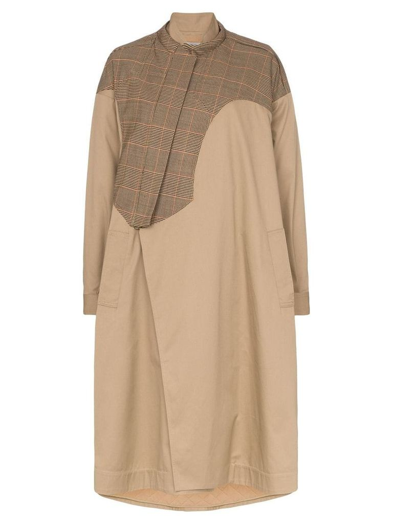 Preen By Thornton Bregazzi hannah padded oversized coat - Camel