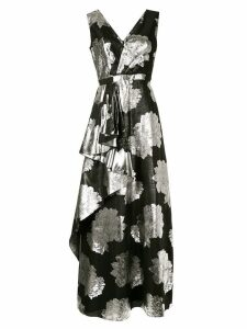 Ingie Paris floral metallic dress - Black
