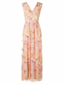 Ingie Paris floral embroidered dress - Pink