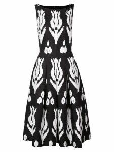 Oscar de la Renta tulip print dress - Black