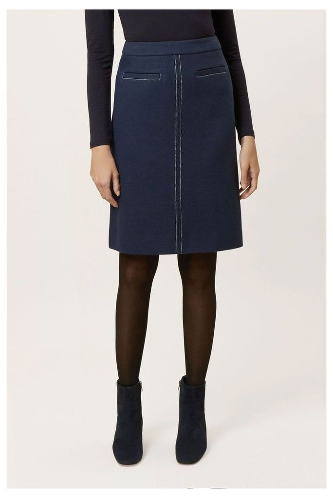 Womens Hobbs Blue Joella A-Line Skirt -  Blue