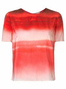 Ingie Paris gradient effect blouse - Red