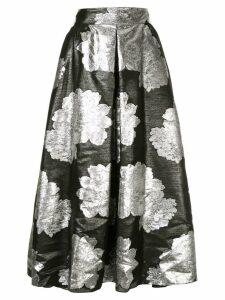 Ingie Paris floral metallic skirt - Black