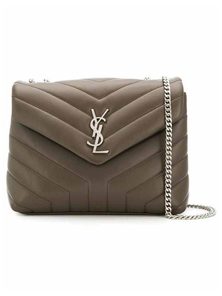 Saint Laurent Monogram shoulder bag - Brown