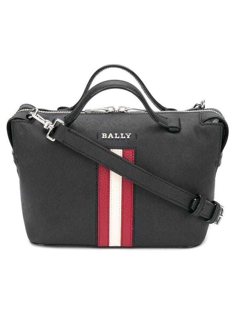 Bally stripe trim shoulder bag - Black