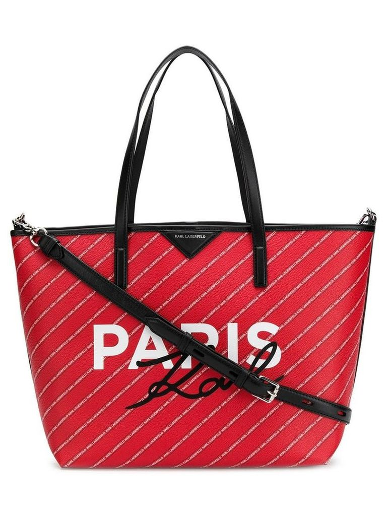 Karl Lagerfeld Paris tote bag - Red