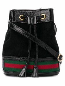 Gucci web detail bucket bag - Black