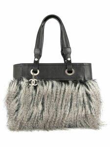 Chanel Pre-Owned Fur Fantasy tote bag - Black