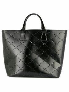 Prada Pre-Owned perforated pattern tote bag - Black