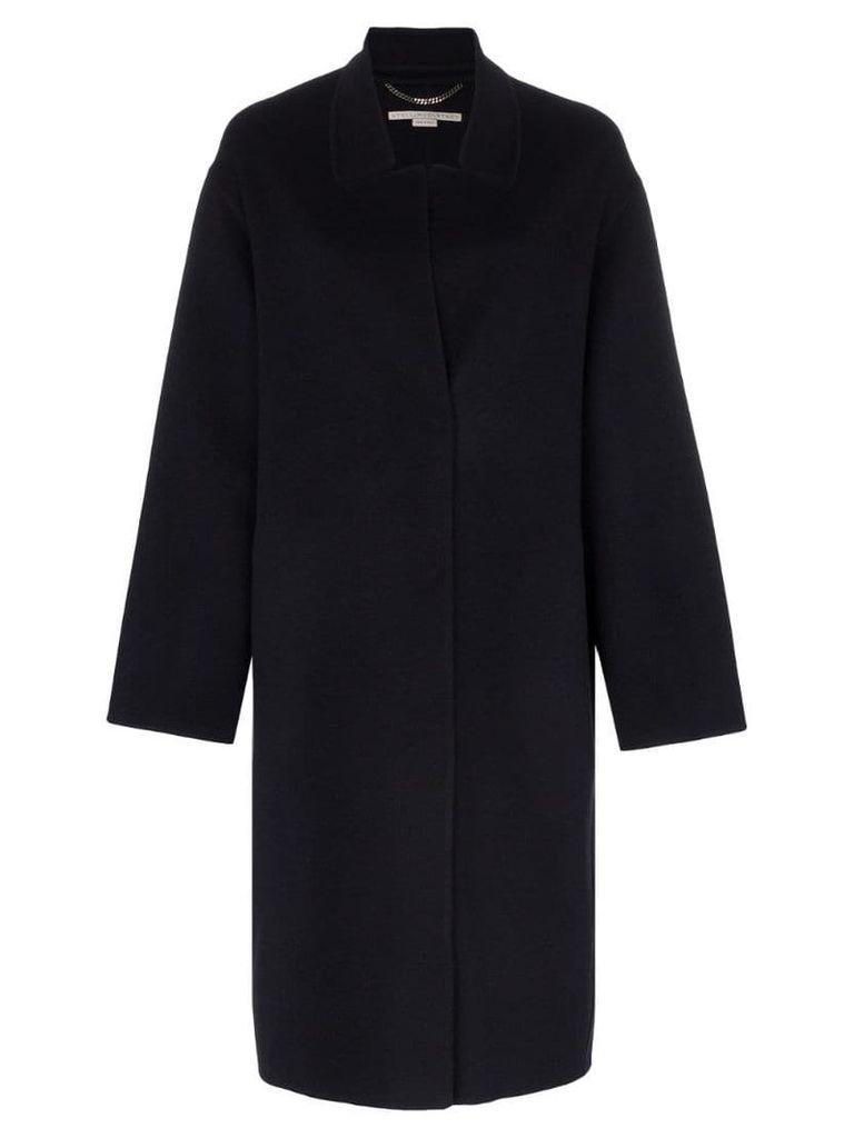 Stella McCartney oversized peak lapel wool coat - Blue