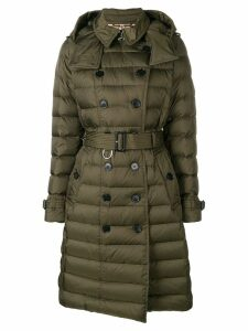 Burberry quilted double breasted coat - Green