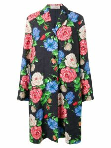 Nina Ricci floral brocade coat - Black