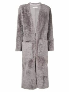 Inès & Maréchal Elvis long V-neck coat - Grey
