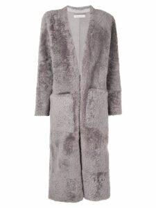 Inès & Maréchal Elvis long V-neck coat - Grey