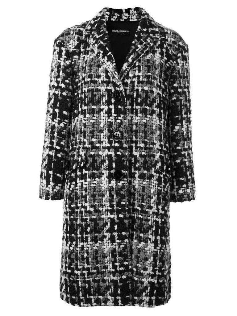 Dolce & Gabbana bouclé midi coat - Grey