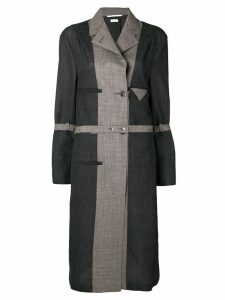 Thom Browne Chesterfield-Lined Wool Overcoat - Grey