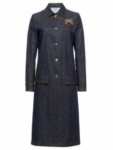 Prada Single-breasted denim coat - Blue