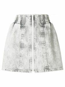 Miu Miu bleached denim mini skirt - Grey