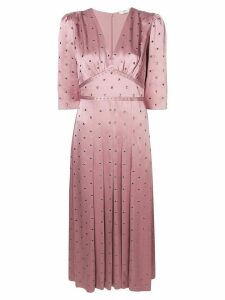 Fendi studded flared maxi dress - Pink