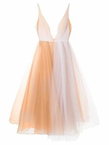 Alex Perry Joia plunge tulle dress - White