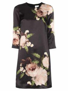 Erdem floral print silk mini dress - Black
