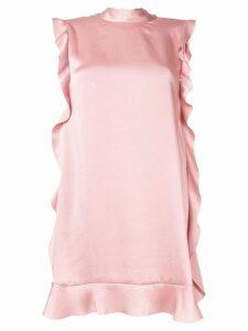 Red Valentino ruffled trim dress - Pink