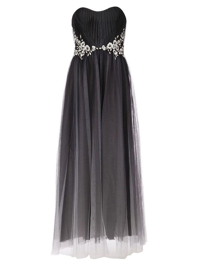 Marchesa Notte strapless tulle dress - Black