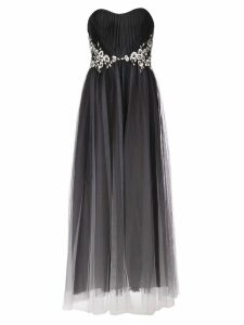 Marchesa Notte strapless tulle dress - Black