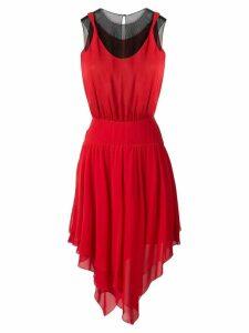 Karl Lagerfeld asymmetric dress - Red