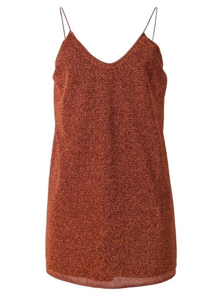 Oseree loose fit dress - Brown