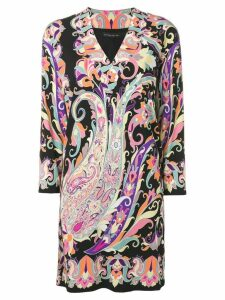 Etro printed shift dress - Black